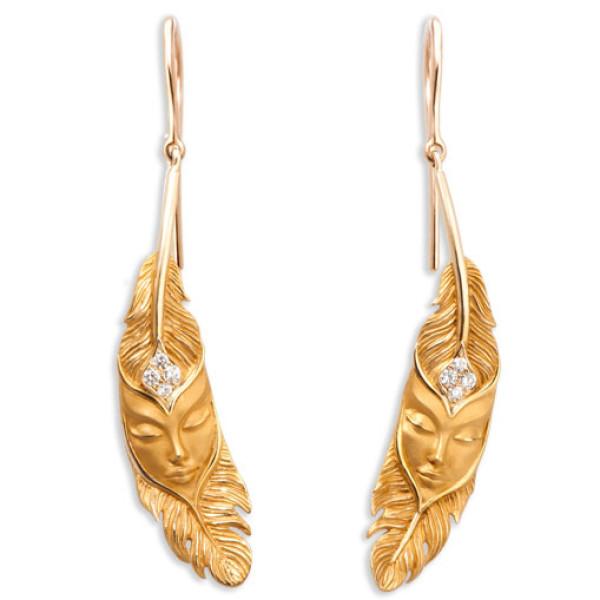 Серьги Magerit Hechizo Ilusion Small, желтое золото, бриллиант