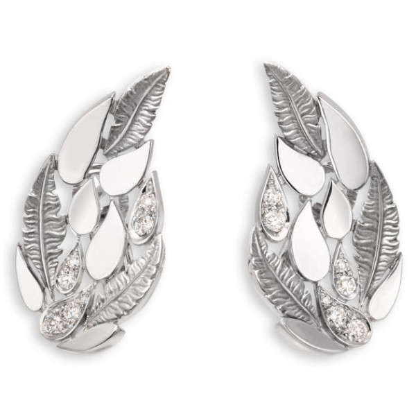 Серьги Magerit Hechizo Romance, белое золото, бриллианты