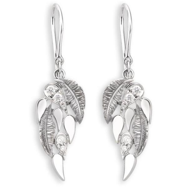 Серьги Magerit Hechizo Romance Small, белое золото, бриллианты