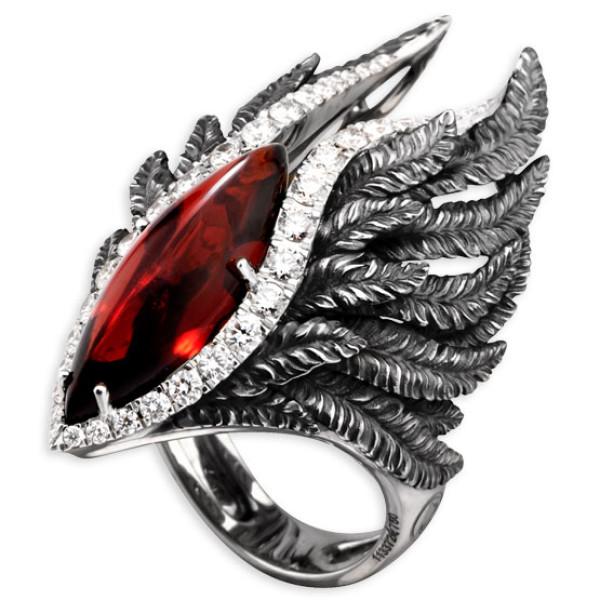 Кольцо Magerit Hechizo Armonia, белое золото, бриллианты, гранат