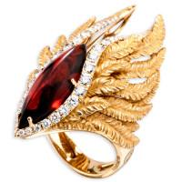 Кольцо Magerit Hechizo Armonia, желтое золото, бриллианты, гранат