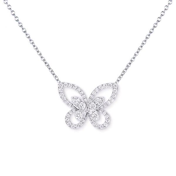 Подвеска Graff Butterfly, белое золото, бриллианты