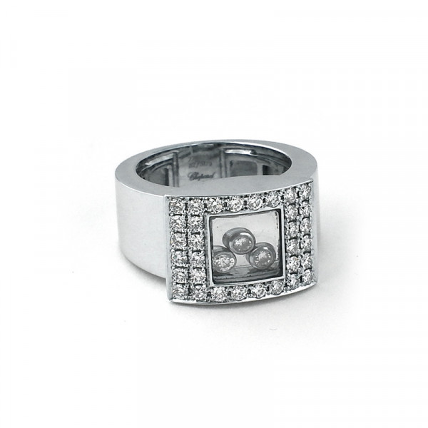 Кольцо Chopard, белое золото 750, бриллианты