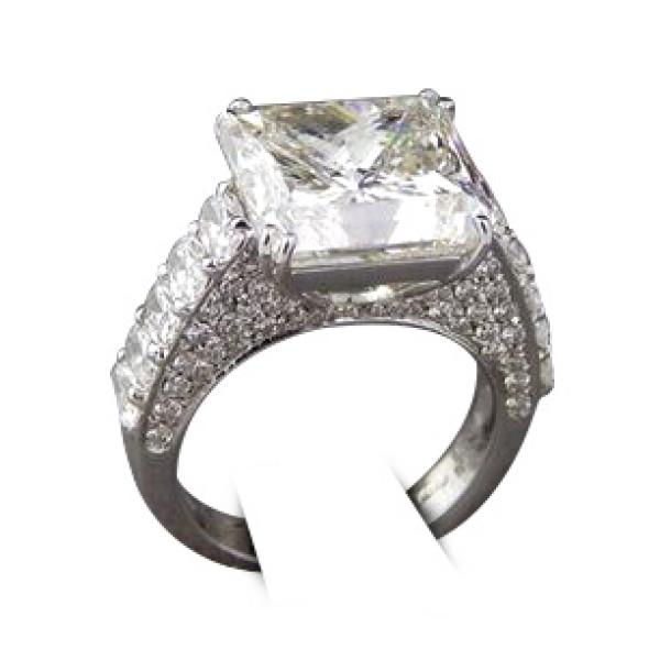 Кольцо Crivelli с бриллиантом 10,37ct, белое золото, бриллианты