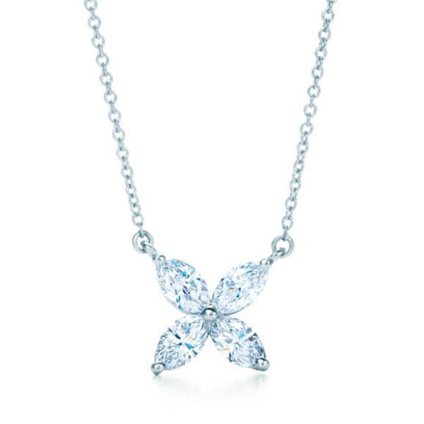 Подвеска Tiffany & Co. Victoria платина, бриллианты
