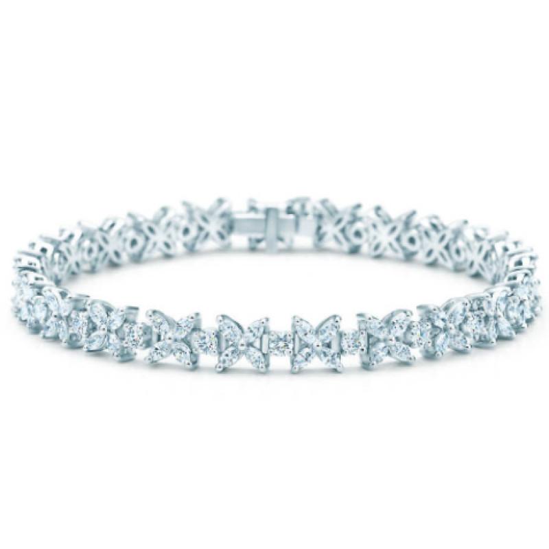 Браслет Tiffany & Co. Victoria платина, бриллианты