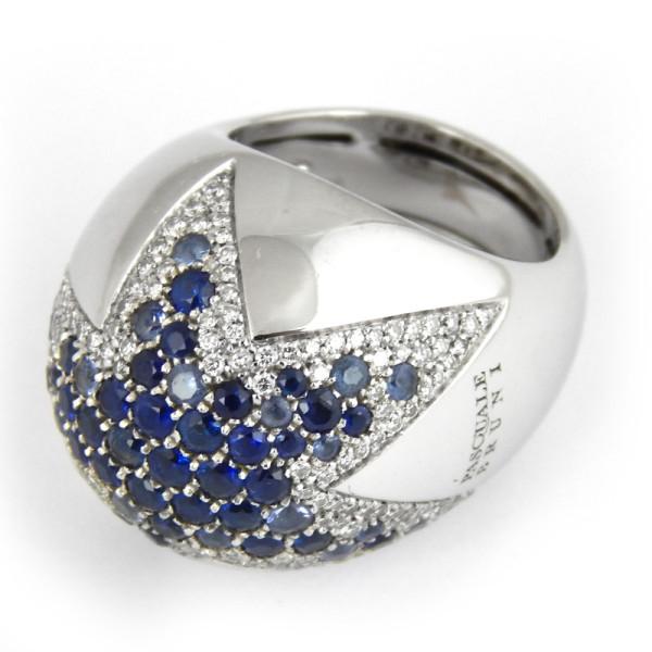 Кольцо Pasquale Bruni, белое золото, бриллианты, сапфиры