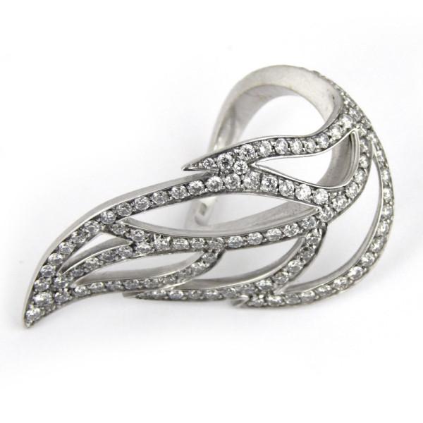 Кольцо Luca Carati, белое золото, бриллианты