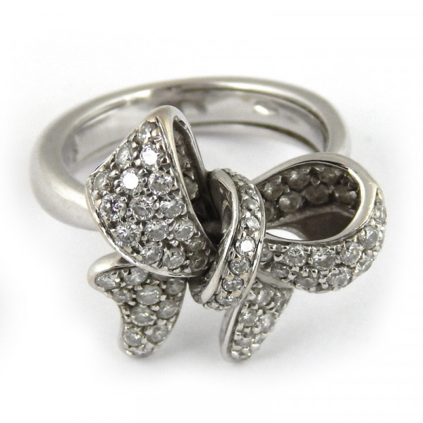 Кольцо Crivelli, белое золото 750, бриллианты