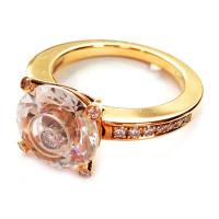 Кольцо Chopard Happy Diamonds, желтое золото, бриллианты