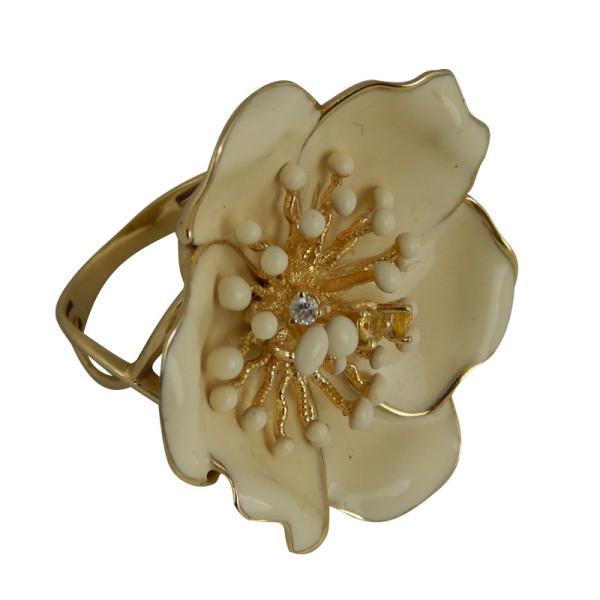 Кольцо ROBERTO BRAVO, золото, бриллианты, эмаль