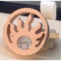 Кольцо Chopard Happy Sun, розовое золото, бриллиант