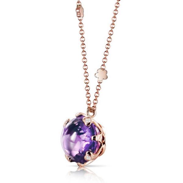 Подвеска Pasquale Bruni Sissi, розовое золото, бриллианты, аметист