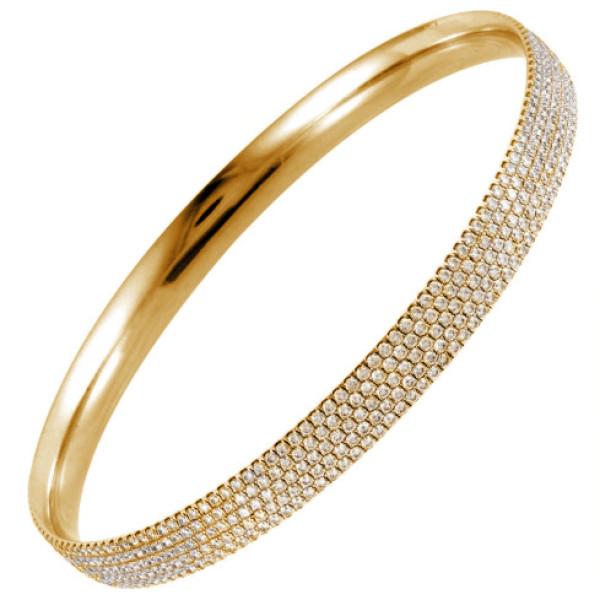 Браслет Gianni Lazzaro, желтое золото, бриллианты