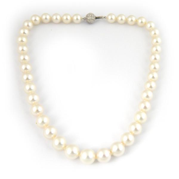 Ожерелье Paspaley, белое золото, жемчуг, бриллианты