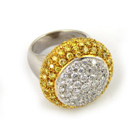 Кольцо Mario Panelli, белое золото, бриллианты