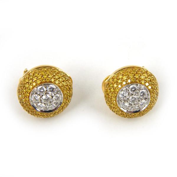 Серьги Mario Panelli, белое золото, бриллианты