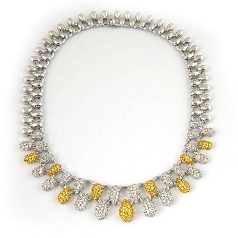 Колье Mario Panelli, белое золото, бриллианты