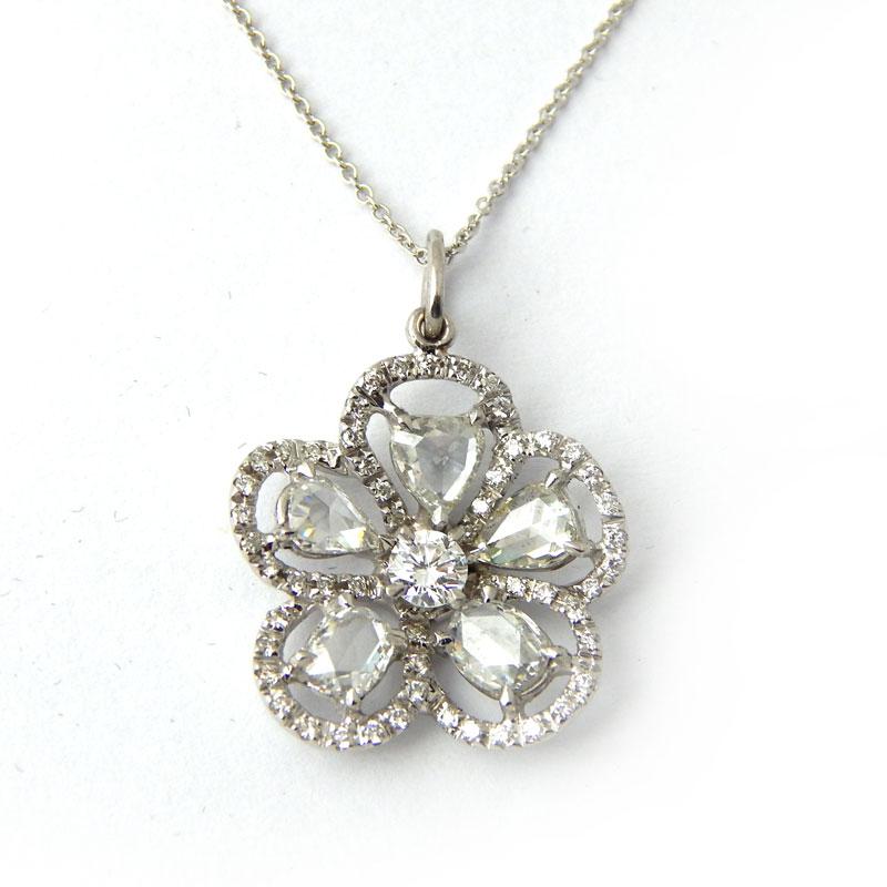 Подвеска Tiffany & Co. белое золото, бриллианты