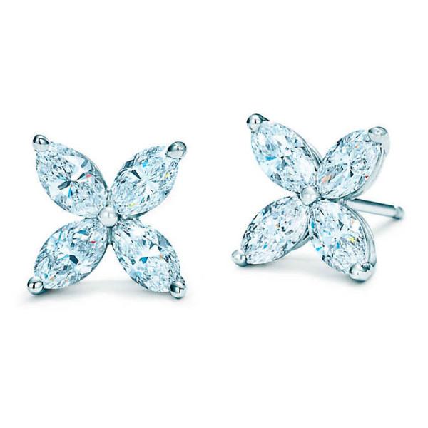 Серьги Tiffany & Co. платина, бриллианты