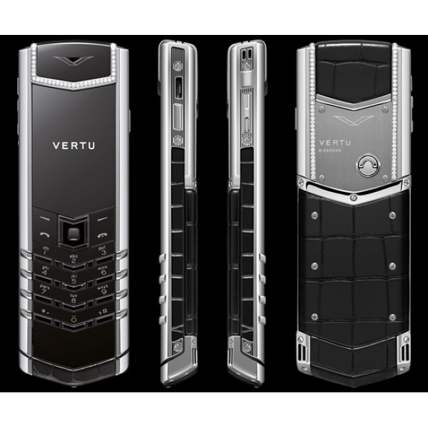 Vertu Signature S Design Steel Diamond Trim Alligator