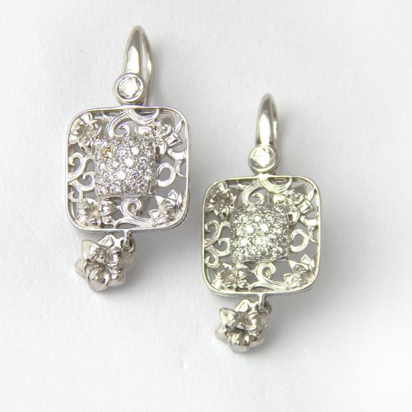Серьги Carrera y Carrera, белое золото, бриллианты
