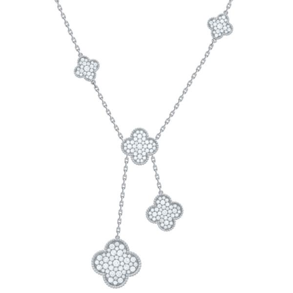 Ожерелье Van Cleef & Arpels Magic Alhambra, белое золото, бриллианты