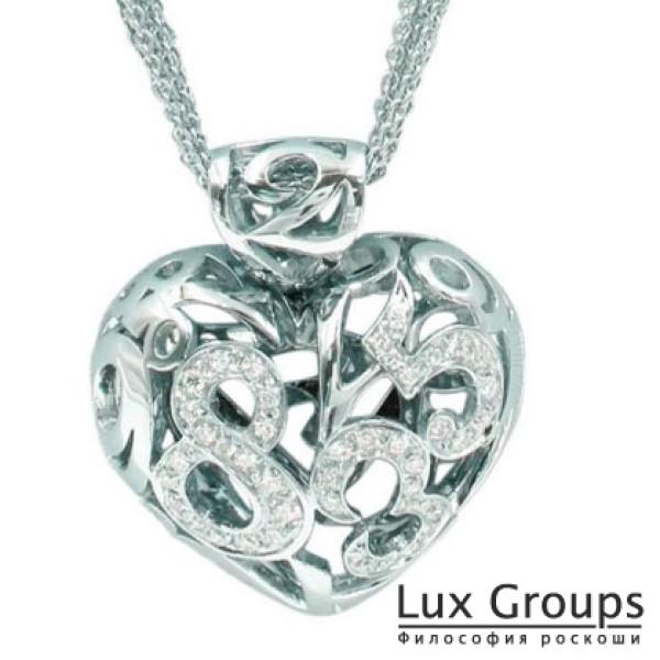 Кулон Franck Muller, белое золото 750 вес 32г бриллианты