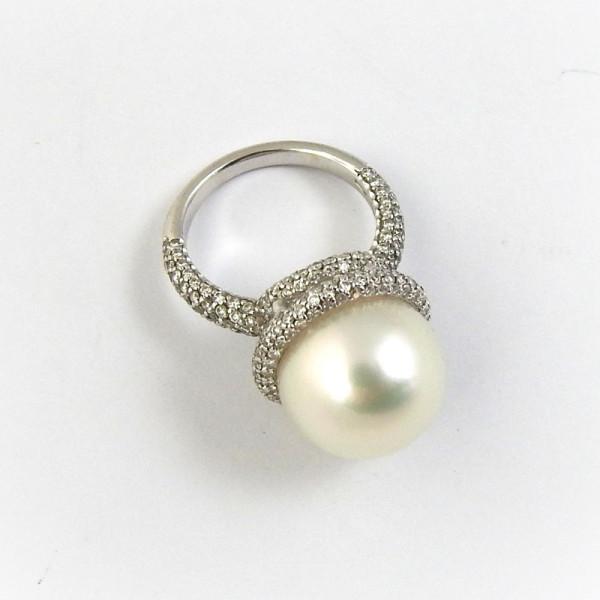 Кольцо Federici, белое золото, бриллианты