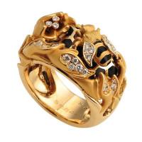 Кольцо Magerit Nature, желтое золото, бриллианты