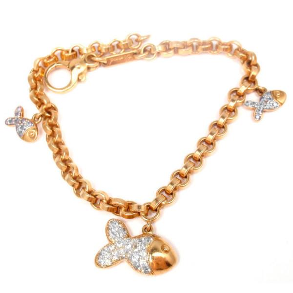 Браслет Chopard Happy Fish, желтое золото, бриллианты