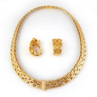Набор колье и серьги Patek Philippe, желтое золото, бриллианты