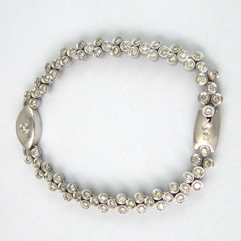 Браслет Crivelli, белое золото 750, бриллианты