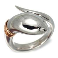 Кольцо Damiani Eden, белое, розовое золото, бриллианты