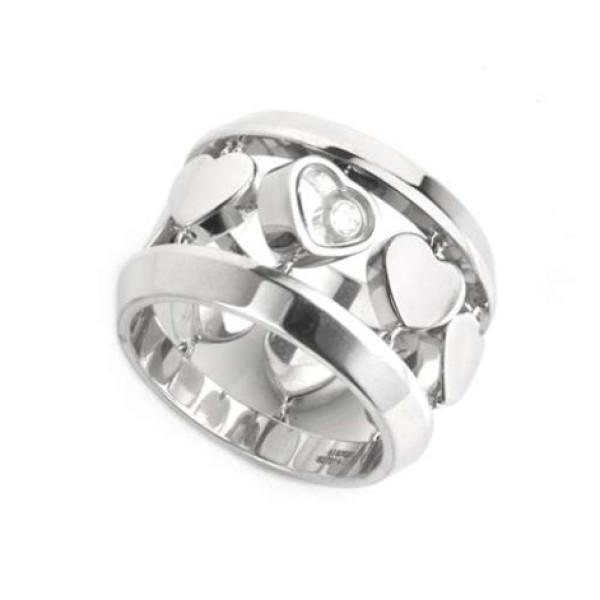 Кольцо Chopard Happy Amore, белое золото, бриллиант