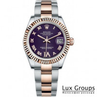 Rolex Datejust 31 Purple Dial Two Tone