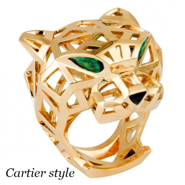 Кольцо Panthere de Cartier, желтое золото