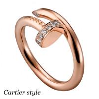 Кольцо Cartier Juste un Clou, розовое золото, бриллианты