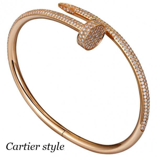Браслет Cartier Juste un Clou, розовое золото 750, бриллианты