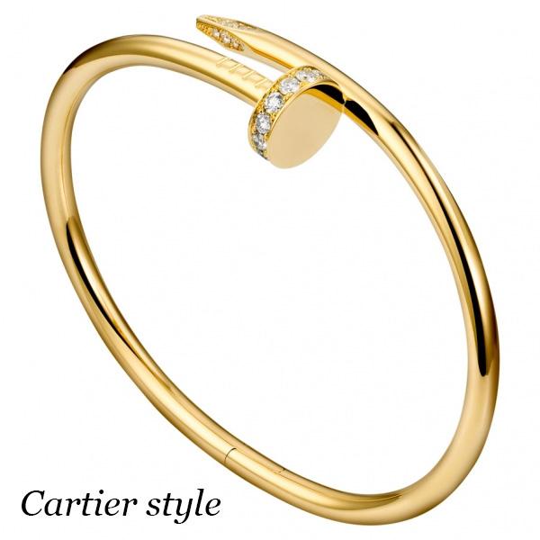 Браслет Cartier Juste un Clou, желтое золото 750, бриллианты
