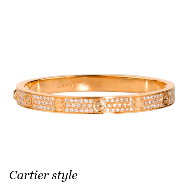 Браслет Cartier Love, желтое золото 18К, бриллианты