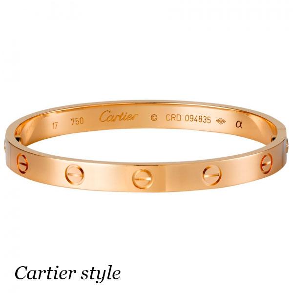 Браслет Cartier Love, розовое золото 750 пробы