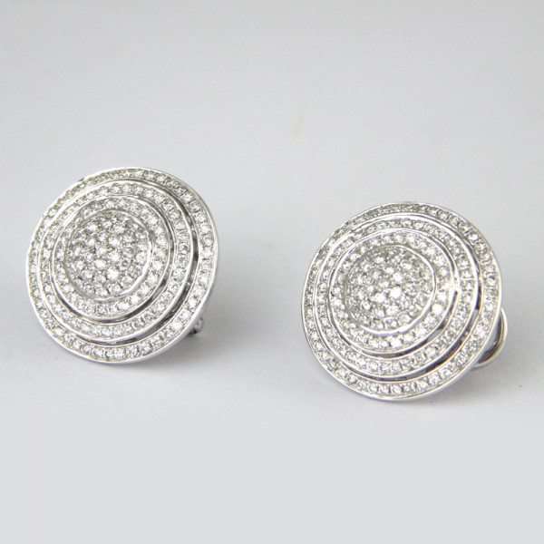 Серьги Luca Carati, белое золото, бриллианты