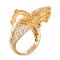 Кольцо Carrera y Carrera Garzas, желтое золото, бриллианты