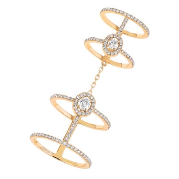 Кольца Messika Glamazone, желтое золото, бриллианты
