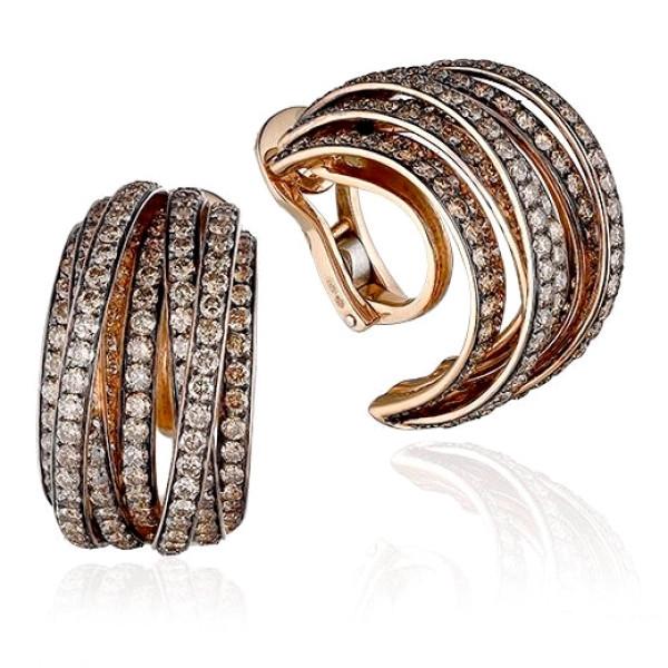 Серьги deGrisogono Allegra, розовое золото, бриллианты