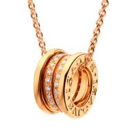 Подвеска Bvlgari B.Zero1, розовое золото, бриллианты