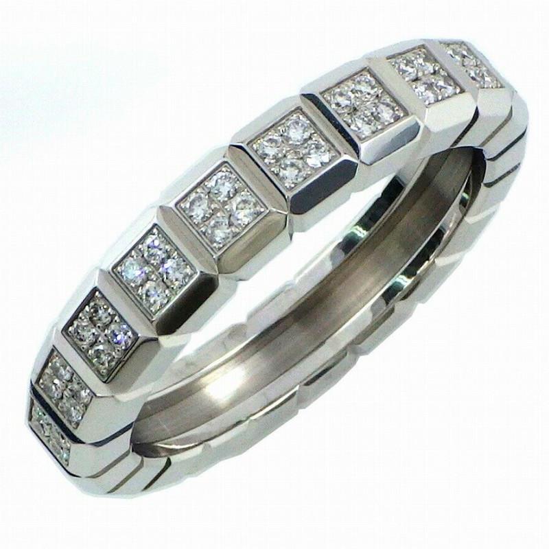 Кольцо Chopard Ice Cube, белое золото, бриллианты