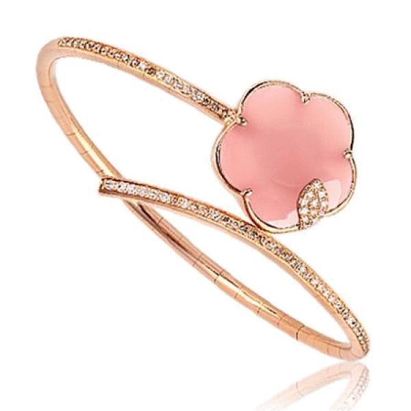 Браслет Pasquale Bruni, розовое золото, бриллианты, халцедон