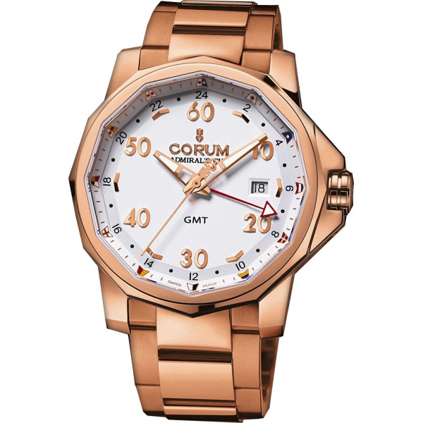 Corum watches Admiral`s Cup GMT 44 All Red Gold